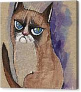 Grumpy Cat Is Watching You Canvas Print