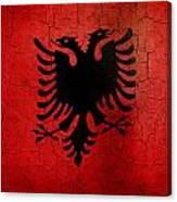 Grunge Albania Flag Canvas Print