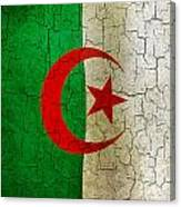 Grunge Algeria Flag Canvas Print