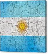 Grunge Argentina Flag Canvas Print