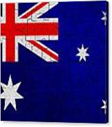 Grunge Australia Flag Canvas Print