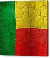 Grunge Benin Flag Canvas Print