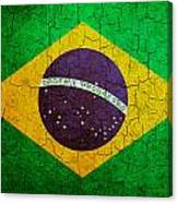 Grunge Brazil Flag Canvas Print