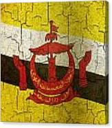 Grunge Brunei Flag Canvas Print