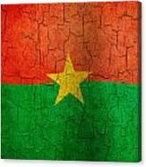 Grunge Burkina Faso Flag Canvas Print