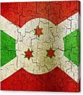 Grunge Burundi Flag Canvas Print