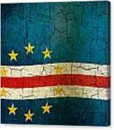 Grunge Cape Verde Flag Canvas Print