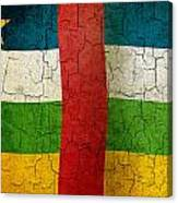 Grunge Central African Republic Flag Canvas Print