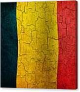 Grunge Chad Flag Canvas Print