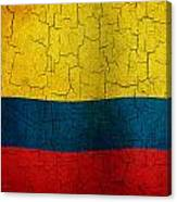 Grunge Colombia Flag Canvas Print