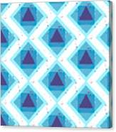 Grunge Colorful Abstract Geometric Canvas Print