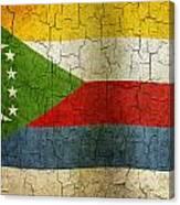 Grunge Comoros Flag Canvas Print