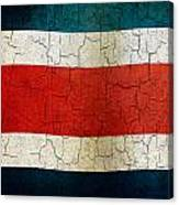 Grunge Costa Rica Flag Canvas Print