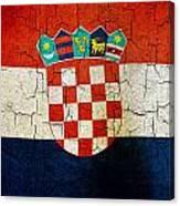Grunge Croatia Flag Canvas Print