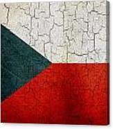 Grunge Czech Republic Flag Canvas Print