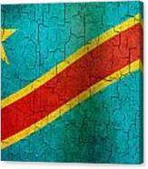 Grunge Democratic Republic Of The Congo Flag Canvas Print