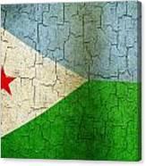 Grunge Djibouti Flag Canvas Print