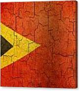 Grunge East Timor Flag Canvas Print