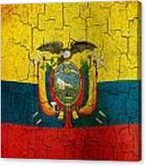 Grunge Ecuador Flag Canvas Print