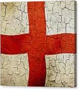 Grunge England Flag Canvas Print