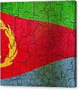 Grunge Eritrea Flag Canvas Print