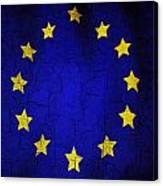 Grunge European Union Flag Canvas Print