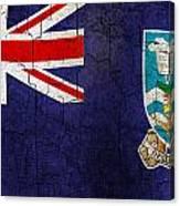 Grunge Falkland Islands Flag Canvas Print