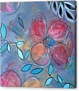Grunge Floral II Canvas Print