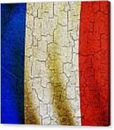 Grunge France Flag Canvas Print