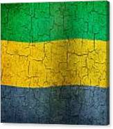 Grunge Gabon Flag Canvas Print