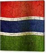 Grunge Gambia Flag Canvas Print