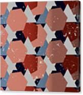 Grunge Geometric Background. Vector Canvas Print