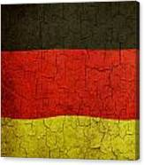 Grunge German Flag Canvas Print