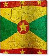 Grunge Grenada Flag Canvas Print