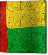 Grunge Guinea-bissau Flag Canvas Print