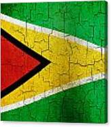 Grunge Guyana Flag Canvas Print