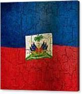 Grunge Haiti Flag  Canvas Print
