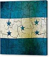 Grunge Honduras Flag Canvas Print