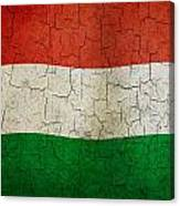 Grunge Hungary Flag Canvas Print