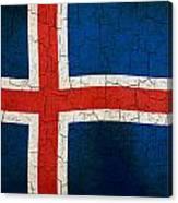 Grunge Iceland Flag Canvas Print