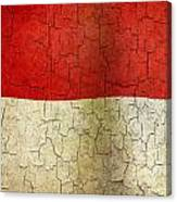 Grunge Indonesia Flag Canvas Print