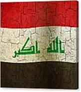 Grunge Iraq Flag Canvas Print