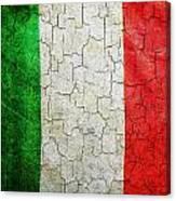 Grunge Italy Flag Canvas Print