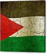 Grunge Jordan Flag Canvas Print