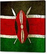 Grunge Kenya Flag Canvas Print