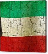 Grunge Kuwait Flag Canvas Print