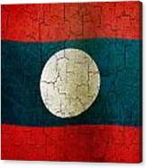 Grunge Laos Flag Canvas Print