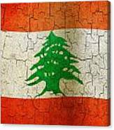 Grunge Lebanon Flag Canvas Print