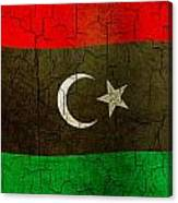 Grunge Libya Flag Canvas Print
