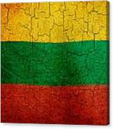 Grunge Lithuania Flag Canvas Print